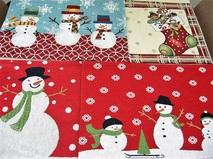 12月の浜松お見合いのためにクリスマスランチョンマットを準備。